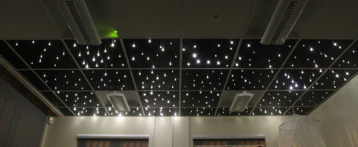Suspended ceiling tiles led ceiling panels custom fibre optics have a look at our starry ceiling tile installation guide for reference dailygadgetfo Images