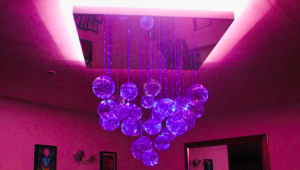 fibre optic chandelier