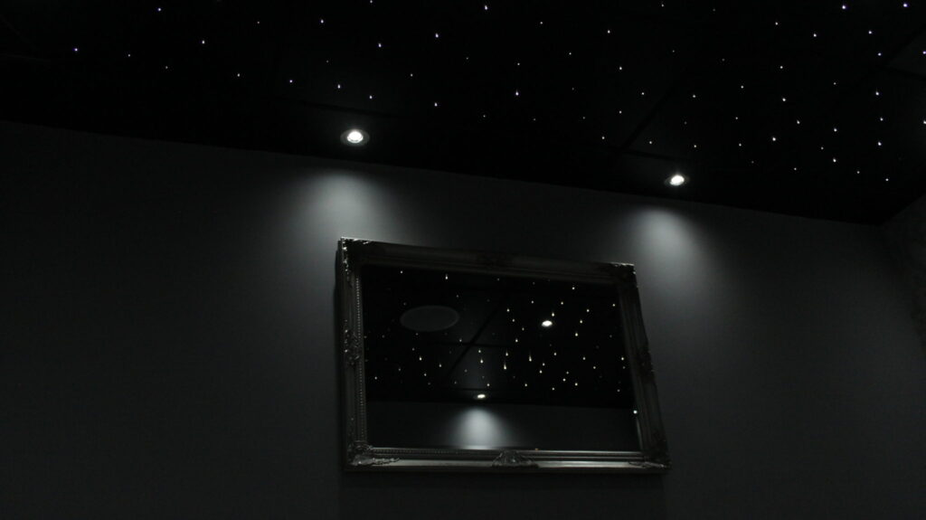Fibre optic ceiling tiles