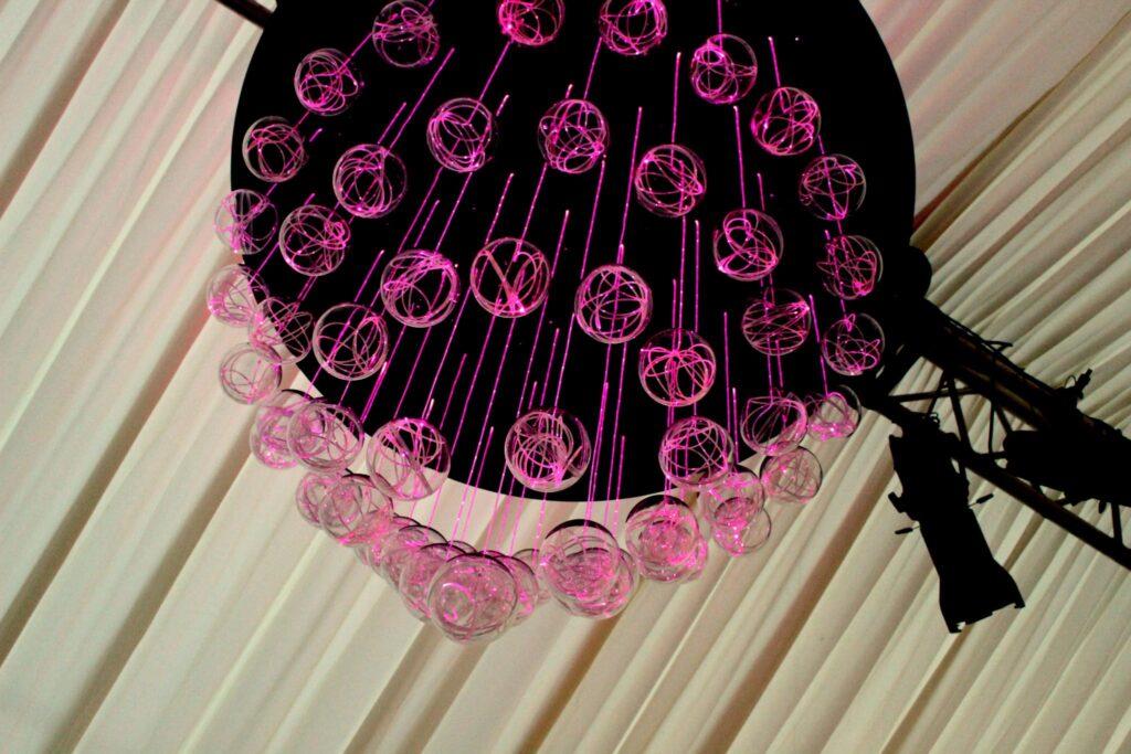 Fibre optic chandelier