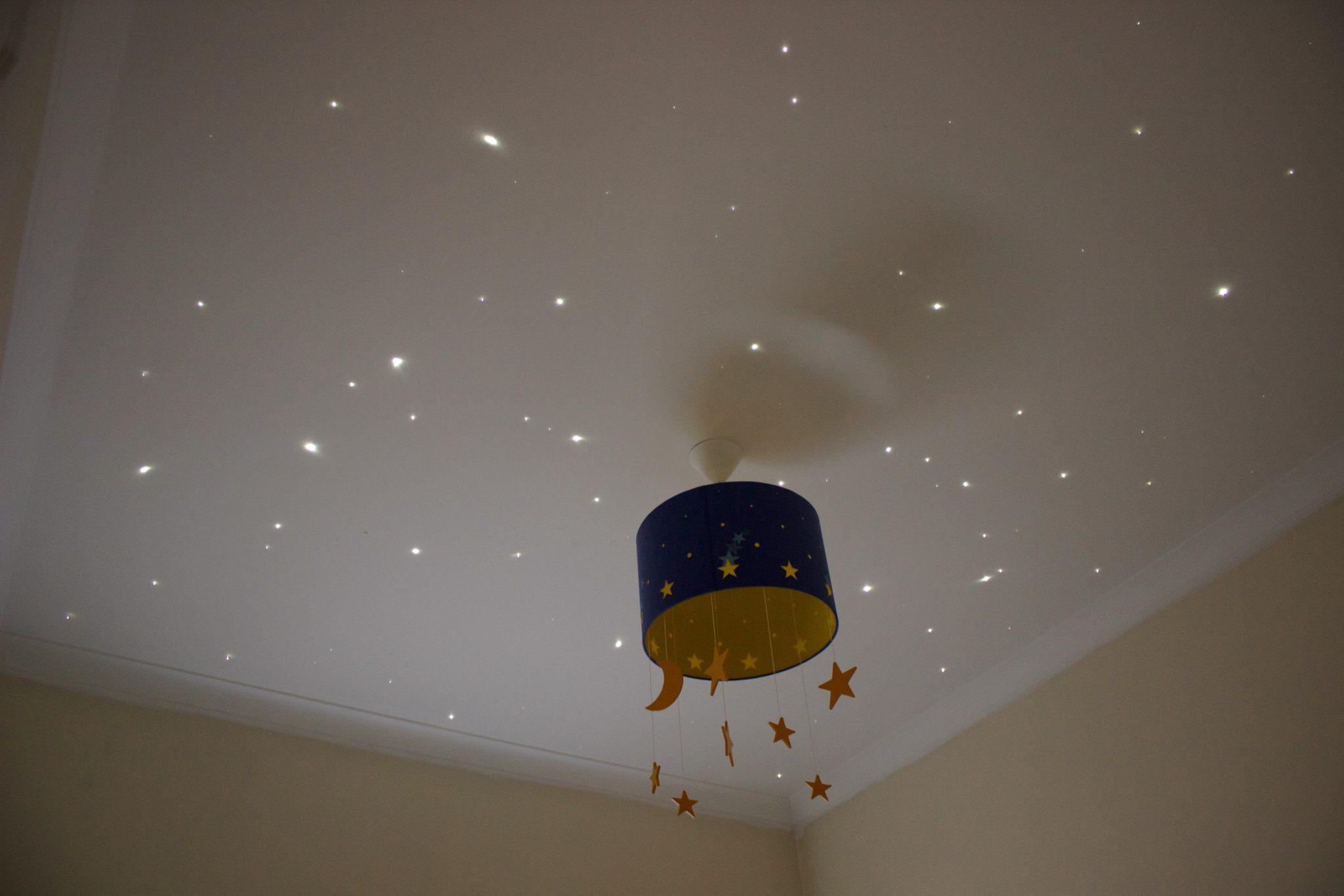 Fibre optic starry ceiling